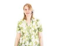 Женщина при установленная голова иметь переговор Стоковое Фото