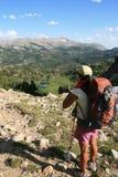 женщина пропуска hiker Стоковое Фото