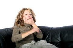 Женщина просыпая вверх стоковые фото