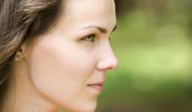 женщина профиля стоковое фото rf