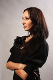женщина профиля Стоковая Фотография