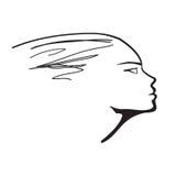 женщина профиля Стоковое Фото