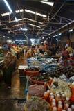 Женщина продавая рыб в Siem Reap Стоковое фото RF