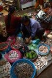 Женщина продавая рыб в Siem Reap Стоковое Фото
