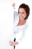 женщина пустой доски смеясь над Стоковые Фото