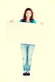 женщина пустой доски счастливая Стоковые Изображения