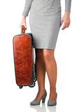 Женщина путешествуя на деле Стоковые Изображения RF