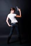 женщина пушки Стоковое Фото