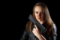 женщина пушки Стоковое фото RF