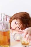 Женщина пьянства Стоковая Фотография