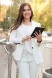 Женщина планшета Стоковые Изображения RF