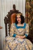 женщина платья средневековая Стоковое Изображение