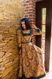 женщина платья средневековая Стоковая Фотография RF