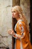 женщина платья средневековая Стоковые Изображения