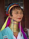 Женщина племени племени padaung портрета длинн-necked Озеро Inle, Мьянма, Бирма Стоковое Фото
