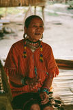 Женщина племени холма Карена Стоковые Фото