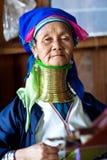 Женщина племени Padaung, Мьянма Стоковые Изображения