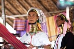 Женщина племени Padaung Стоковое Изображение RF