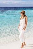 женщина пляжа красивейшая Стоковое Изображение