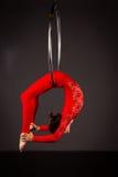 Женщина работая на lyra стоковая фотография rf