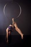 Женщина работая на lyra стоковое фото rf