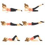 Женщина работая фитнес Стоковое Изображение