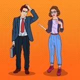 Женщина разговаривая с бизнесменом говорить встречи компьтер-книжки стола cmputer бизнесмена дела сь к использованию женщины Иллю иллюстрация вектора