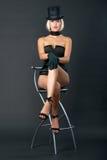 женщина разнообразия выставки стула штанги сидя Стоковое Изображение