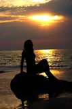 женщина раннего утра Стоковое Фото