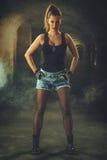 женщина ратника идеи способа фантазии Стоковое фото RF