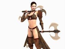 женщина ратника Стоковая Фотография