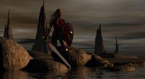 женщина ратника Стоковые Фотографии RF