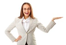 женщина радостная Стоковая Фотография