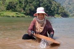 женщина реки золота моя Стоковые Изображения RF