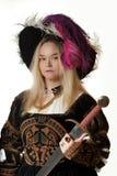 женщина ренессанса портрета Стоковое Изображение