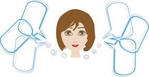 женщина речи милой стороны пузыря счастливая Стоковые Фото
