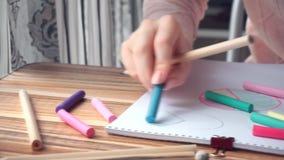 Женщина рисуя различные диаграммы математики дела сток-видео