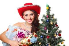 женщина рождества Стоковое Изображение RF