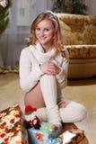 женщина рождества Стоковое фото RF