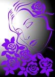 женщина роз Стоковые Фото