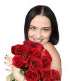 женщина роз Стоковые Изображения