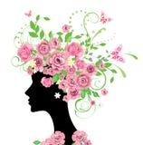 женщина роз Стоковые Фотографии RF