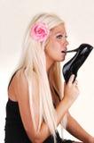 женщина рта пятки высокая Стоковое Фото