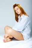 женщина рубашки людей s белая Стоковое Изображение