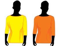 женщина рубашки нося Стоковые Фотографии RF