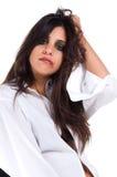 женщина рубашки человека s белая Стоковые Фото