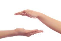 женщина руки ребенка Стоковые Фотографии RF