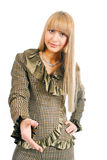 женщина рукопожатия дела Стоковое фото RF