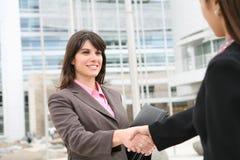 женщина рукопожатия дела Стоковая Фотография RF