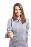 женщина рукопожатия дела Стоковые Изображения RF